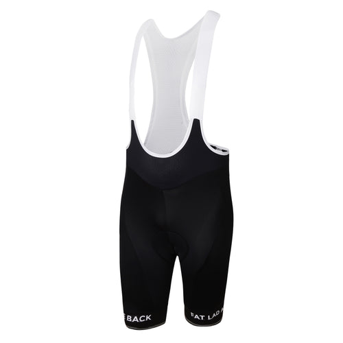Mens Black Jewel Premium Padded Cycling Bib Shorts