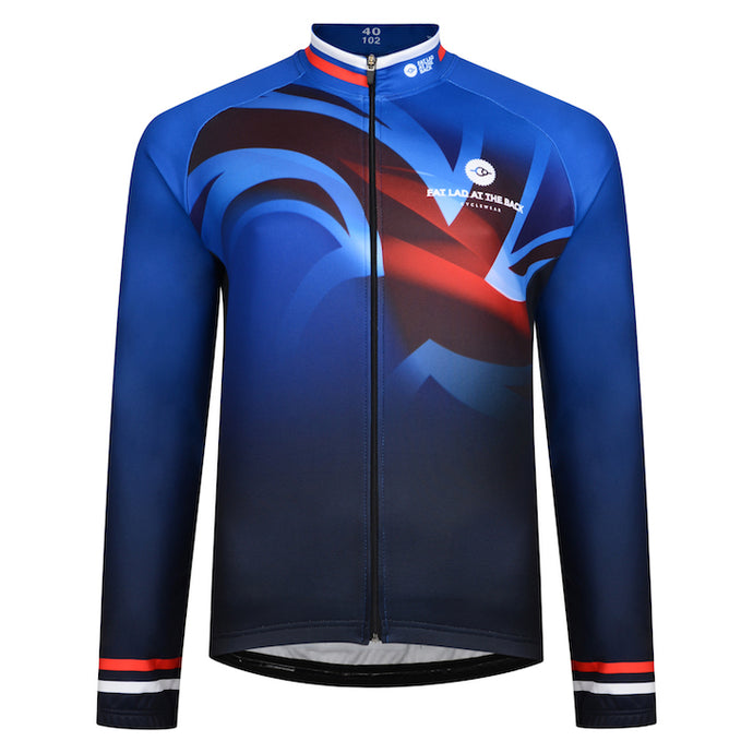 Mens Thermal Union Jack Cycling Jersey