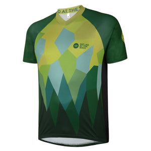 Big and Tall Mens Green Rombalds Mountain Bike Jersey