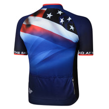 Load image into Gallery viewer, Mens Blue Stars and Stripes Cycling Jersey