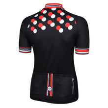 Load image into Gallery viewer, Women's Red Dotty Red Cycling Jersey