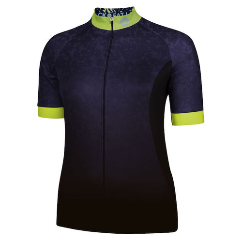 Women's Blue/Lime Marble Cycling Jersey