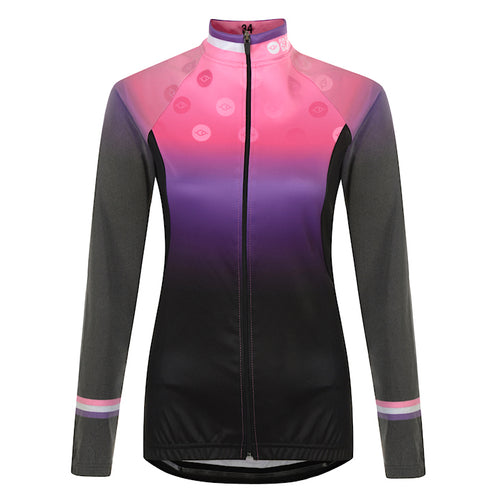 Women's Pink Reflective Cycling Jersey