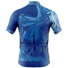 Load image into Gallery viewer, Mens Blue Marbleous Cycling Jersey