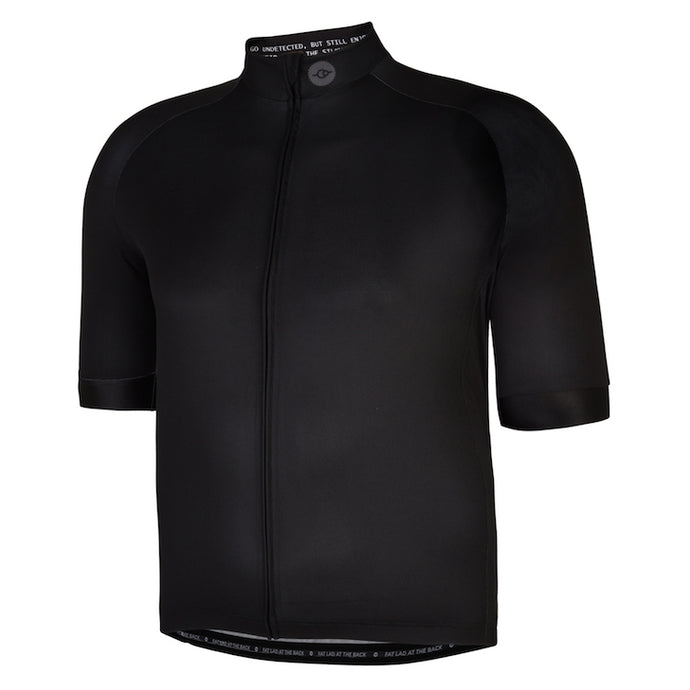 Mens Black Stealth Lycra Cycling Jersey