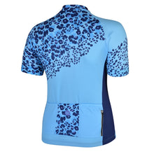 Load image into Gallery viewer, Women's Blue Leopard Bet Lynch Cycling Jersey