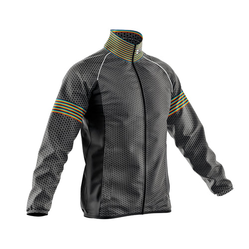 Mens Black Oxo Cycling Rain Jacket