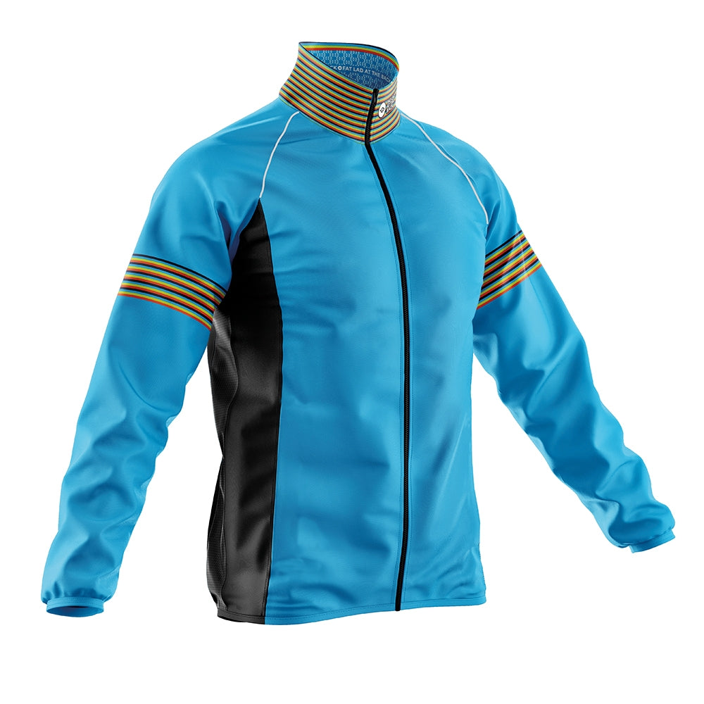 Mens Blue Oxo Cycling Rain Jacket