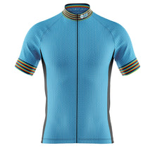 Load image into Gallery viewer, Big and Tall Mens Blue Oxo Cycling Jersey