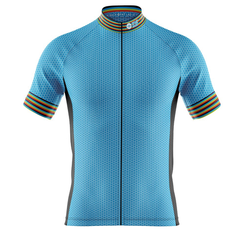 Big and Tall Mens Blue Oxo Cycling Jersey