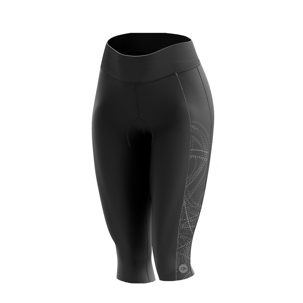 Women's Black Comet Padded Cycling Leggings