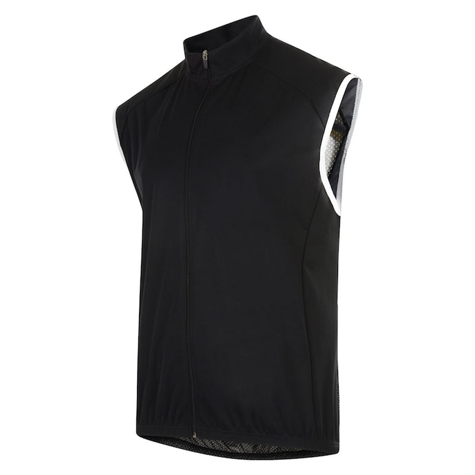 Mens Black Stealth Cycling Gilet