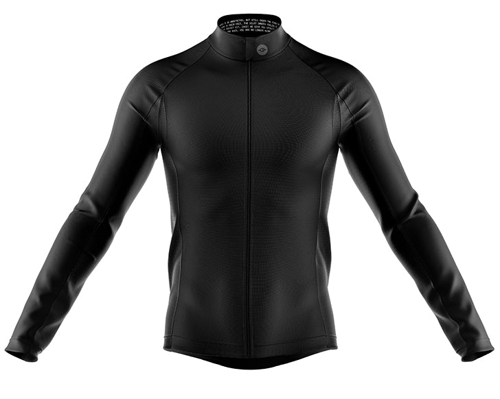 Mens Black Stealth Cycling Windproof Jersey