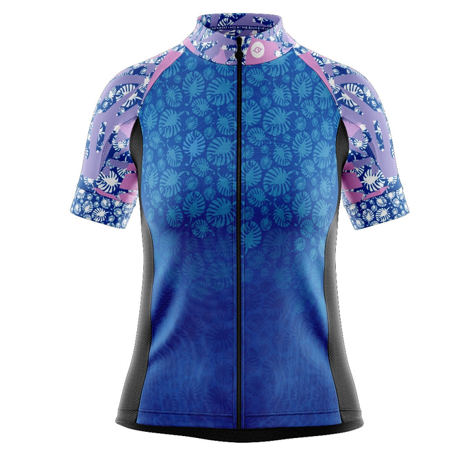 Women's Blue Tropical Cycling Jersey