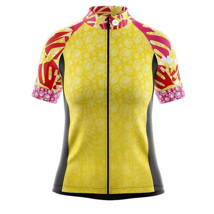 Women's Yellow Tropical Cycling Jersey