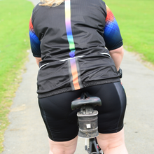 Load image into Gallery viewer, Women's Black Rainbow Cycling Gilet