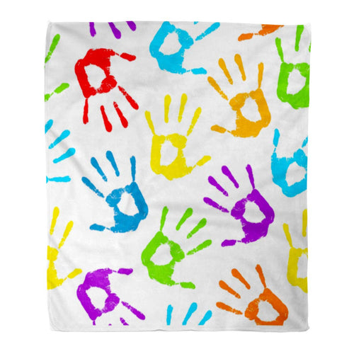 Fingerprint Decorative Throw Blanket
