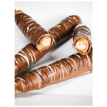 Caramel & Chocolate Dipped Pretzel Rods