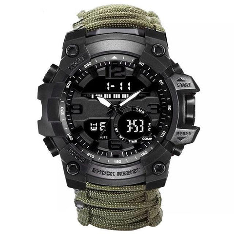 Military Tactical Compass Watch