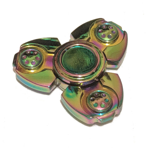 Futuristic oil-coloured Fidget Spinner