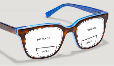 Bi-Focal Flat Top lenses for sunglasses have a line dividing between distant and near vision.