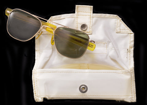 AO Original PIlot Sunglasses and Carrying Pouch for Neil Armstrong