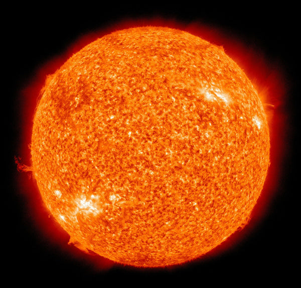 The Sun puts out ultraviolet radiation which is dangerous to our eyesight