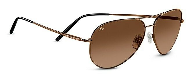 Serengeti 6826 Medium Aviator Sunglasses Henna Frame Drivers Gradient Lenses