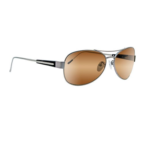 Scheyden Albatross Titanium Frame High Contrast Bronze Glass Lens Sunglasses