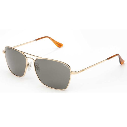 Randolph Engineering Intruder 58mm 23K Gold Frame Skull Temple Non-Polarized Gray Glass Lens Sunglasses
