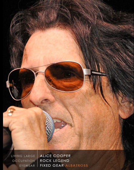 Alice Cooper Wearing Scheyden Albatross Sunglasses