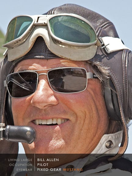 Bill Allen Pilot Wearing Scheyden Mustang Sunglasses