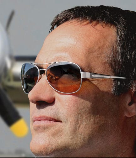 Man Wearing Scheyden Albatross Sunglasses