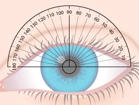 Eye Protractor For Measuring Cylinder for Eyeglass Prescriptions