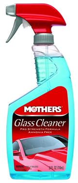 Mothers 06624 Glass Cleaner; Interior/ Exterior Use; 24 Ounce Spray Bottle