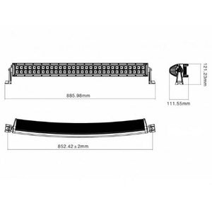 "SpeedDemon 30"" Curved Dual Row Light Bar - DRCX30 (Silver & Black Ops)"