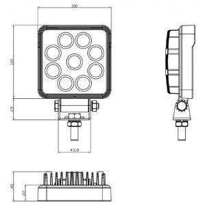 SpeedDemon 927S Square Work Light