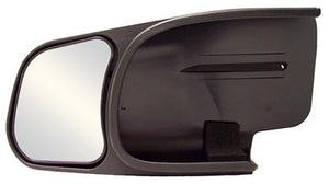 CIPA USA 10801 Exterior Towing Mirror; Slide On; 4-1/4 x 5-3/4 Inch Mirror; Non-Extendable; Glass Manual Adjust