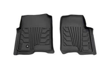 Lund International 283004-B Ford F150 Floor Liner; Catch-It; Molded Fit; Raised Blocks With Drip Channels; Black; Vinyl; 2 Piece