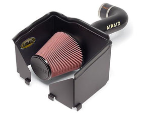 Airaid 300-150 Cold Air Intake; Quick Fit; Black Polyethylene Tube; Red SynthaFlow Filter; With Heat Shield