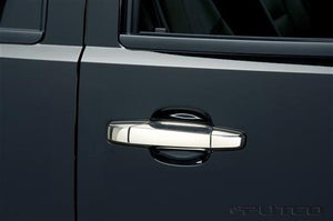 Putco 400033 Exterior Door Handle Cover; Chrome Plated; ABS Plastic; Without Passenger Side Keyhole; Without Rear Bezel; With Covers For 4 Doors
