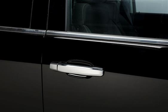 Putco 400440 Exterior Door Handle Cover; Chrome Plated; ABS Plastic; Without Passenger Side Keyhole; With Covers For 4 Doors