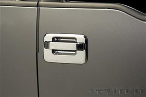 Putco 401007 Exterior Door Handle Cover; Chrome Plated; ABS Plastic; Without Passenger Side Keyhole/Without keypad; With Covers For 4 Doors
