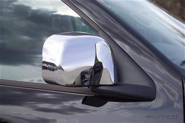 Putco 402802 Exterior Mirror Cover; Door Mirror Cover; Full Cover; Chrome Plated; ABS Plastic; Set Of 2
