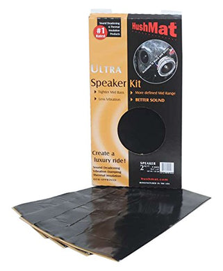 HushMat 10110 Ultra Black Foil Speaker Kit with Damping Pad - 4 Piece