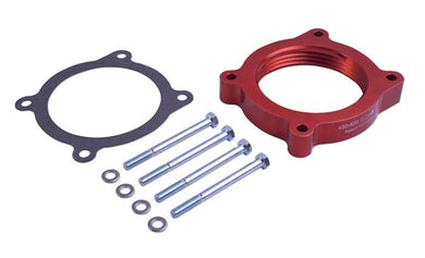 Airaid 450-638 Throttle Body Spacer; PowerAid (R); Anodized; Red; Aluminum; 1 Port; Ford 5.0L
