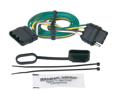 Hopkins MFG 47115 Trailer Wiring Connector Extension; 4 Flat Plugs; 48 Inch Length; Includes Dust Cover/ Wire Ties/ Grease Pack; Single