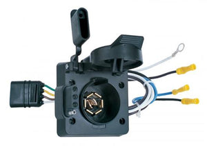 Hopkins MFG 47185 Trailer Wiring Connector Adapter; Multi Tow (R); 4 Flat To 4 Flat And 7-Way Blade; With Bracket And Hardware