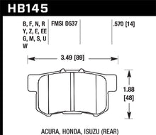 Load image into Gallery viewer, Hawk Performance HB145Z.570 Performance Ceramic Rear Brake Pad (Honda, Acura, Suzuki)