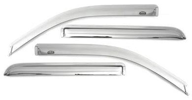Auto Ventshade (AVS) 684133 Rainguard; Ventvisor; Aerodynamic Design; Tape-On; Chrome; Acrylic; Set of 4 Chev/GMC